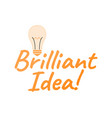 brilliant idea logo and icon startup label for vector image