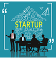 Business meeting for business startup vector image vector image