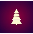 Christmas tree Flat design style vector image