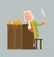 chronicler noble writer scribe playwright medieval vector image