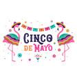cinco de mayo mexican fiesta banner and poster vector image vector image