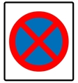 Clearway sign vector image vector image