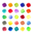 colored blots set vector image
