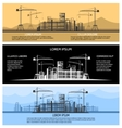 Construction building banners set vector image vector image