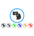 cow thinking person rounded icon vector image vector image