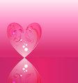 Crystal heart vector image vector image