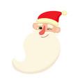 cute santa claus smiling facial expression vector image vector image