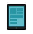 digital tablet pc delivery order service vector image vector image