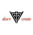 Dont copy - create Inspirational typography vector image vector image