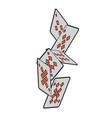 falling poker cards diamond casino vector image vector image