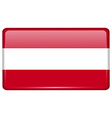 Flags Austria in the form of a magnet on vector image vector image
