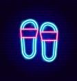 flip flops neon sign vector image vector image
