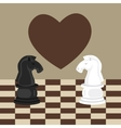 forbidden taboo no romance two horse chess fall in vector image vector image