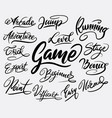 game and bonus hand written typography vector image vector image