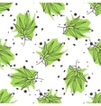 Green tea seamless pattern vector image vector image