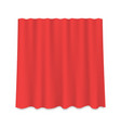 hanging silk curtain vector image vector image