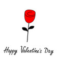 happy valentines day rose flower blossom icon vector image