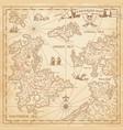 hi detail treasure map vector image