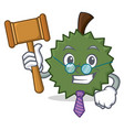 judge durian mascot cartoon style vector image vector image