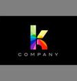 k alphabet letter mosaic design vector image