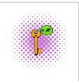 Key room comics icon vector image