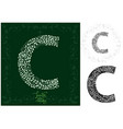 letter c made with decorative leaves vector image