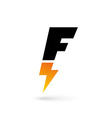 Letter F lightning logo icon design template vector image vector image