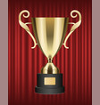 metallic trophy shiny golden cup image vector image