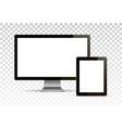 mock up set of blank screens computer vector image vector image