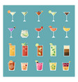 modern drinks and cocktail set vector image vector image