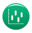 new diagram icon green vector image vector image