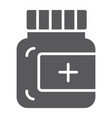 ointment glyph icon care and medicine medical vector image vector image