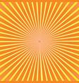 orange burst background vector image vector image