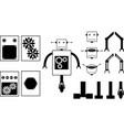 Robot parts vector image