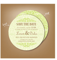 round save the date vector image vector image