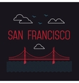 San Francisco Golden Gate Bridge San Francisco vector image vector image