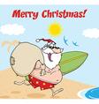 Santa christmas cartoon vector image vector image