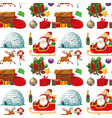 seamless background design with christmas theme vector image vector image