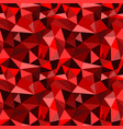 seamless red abstract geometric rumpled vector image vector image