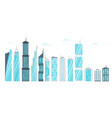set of city modern skyscrapers vector image vector image
