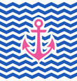 Simple geometric nautical card with anchor vector image vector image