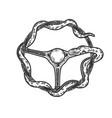 snake steering wheel sketch vector image vector image