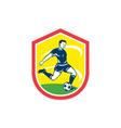Soccer Player Kicking Ball Retro vector image vector image