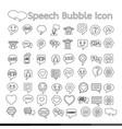 speech bubble icon design vector image