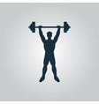 Strong man icon of fitness vector image vector image