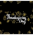 Thanksgiving Day Gold Black Postcard vector image vector image