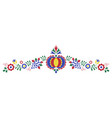 traditional folk ornament the moravian ornament vector image vector image