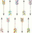 Tribal Arrow Collection vector image vector image
