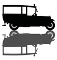 Vintage ambulance car vector image vector image