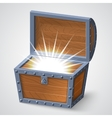 vintage wooden chest vector image vector image
